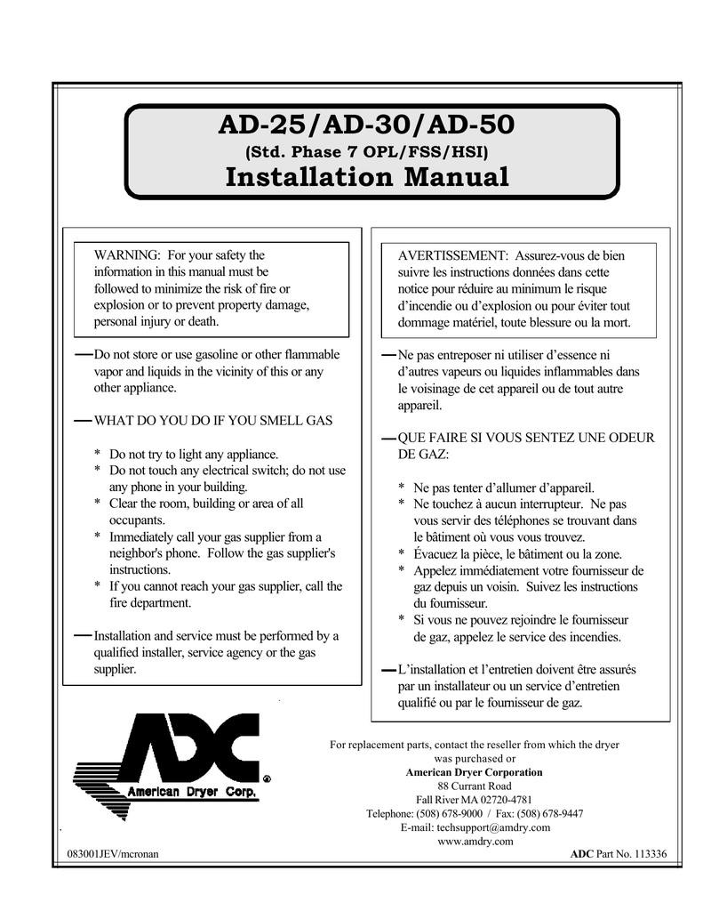 adc ad 25 installation manual manualzz com Roper Dryer Wiring Diagram at Adc 310 Dryer Wiring Diagram