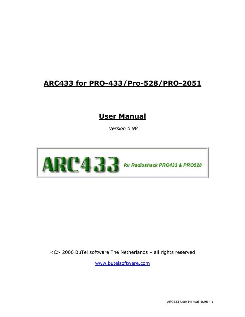Radio shack pro 528 manual