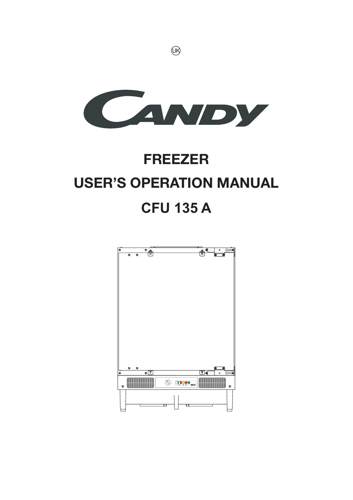 Cfu 135 A Freezer User S Operation Manual
