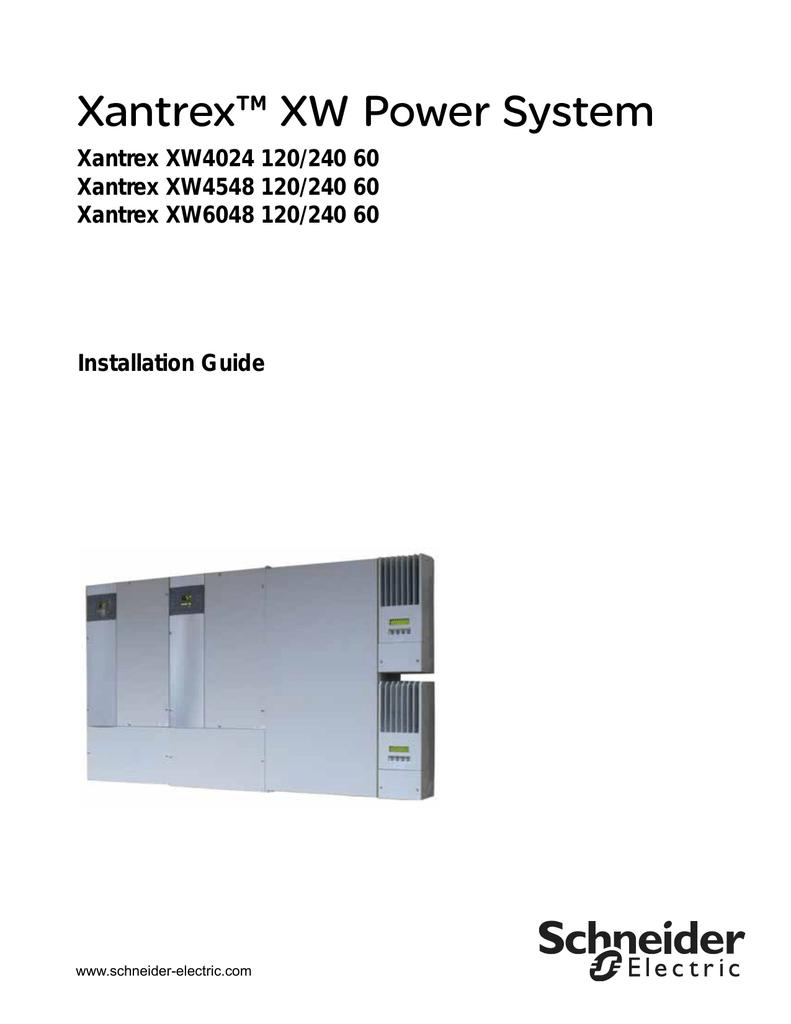 Schneider Electric Xantrex XW Installation guide   manualzz.com on