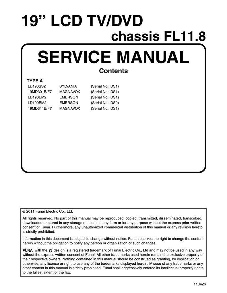 Magnavox 19MD311B Service manual | manualzz.com on