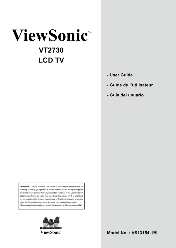 Viewsonic vt2730 | vt2730 datasheet.