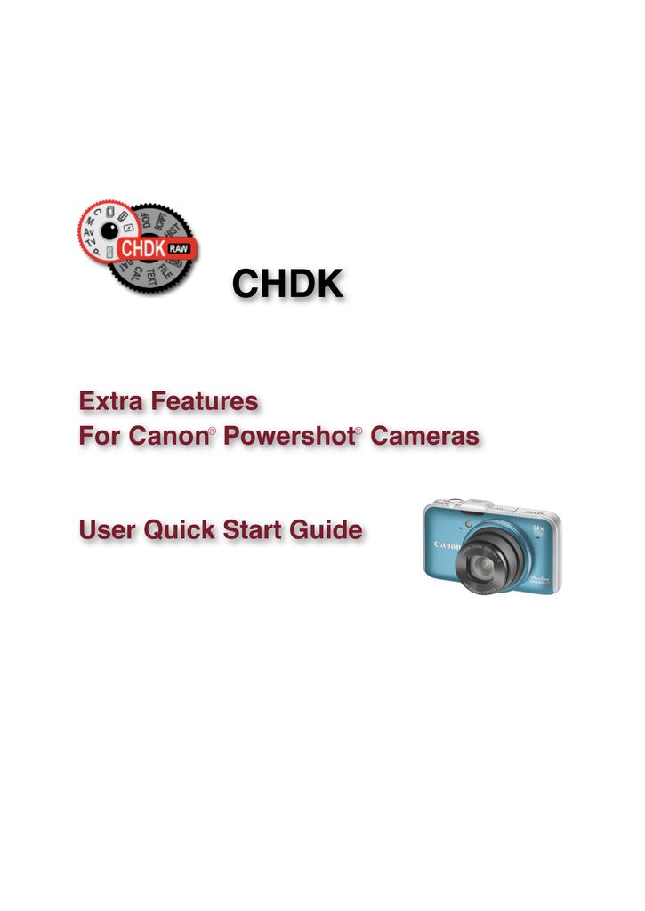 Canon CHDK User guide   manualzz com