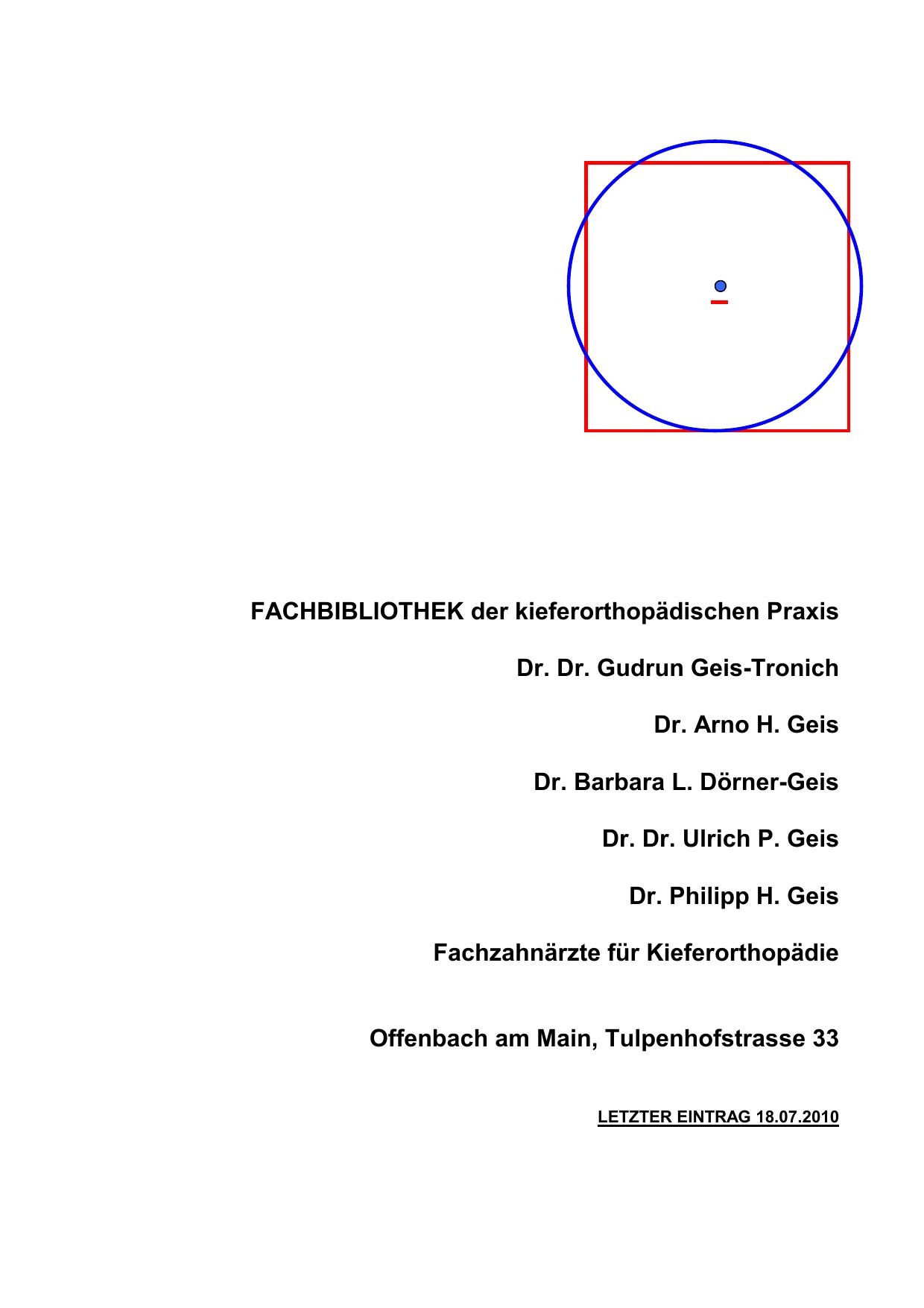 FACHBIBLIOTHEK der kieferorthopädischen Praxis Dr. Dr. Gudrun ...