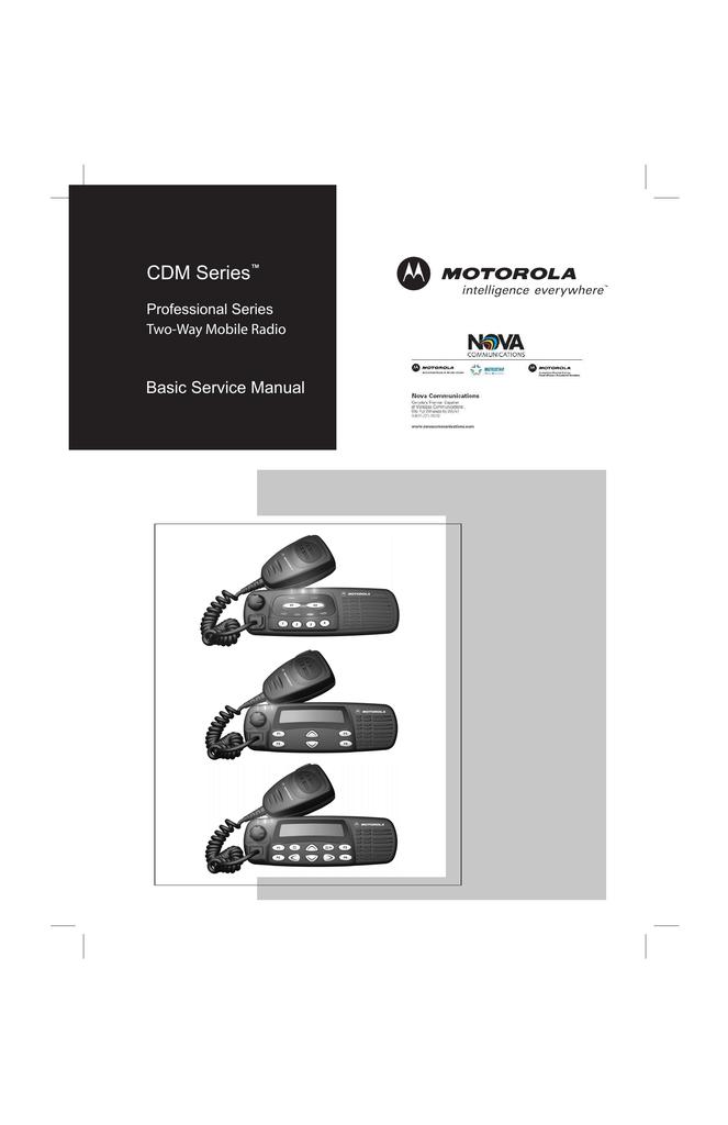 Enjoyable Motorola Cdm Series Service Manual Manualzz Com Wiring 101 Olytiaxxcnl