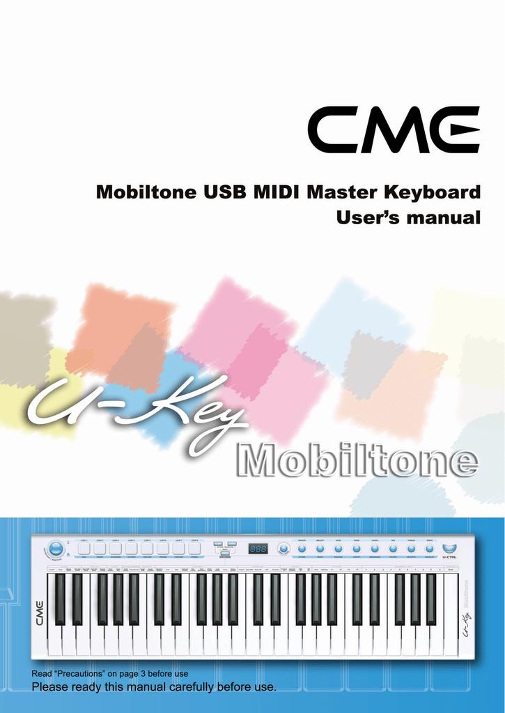 CME U-CTRL User`s manual | manualzz com