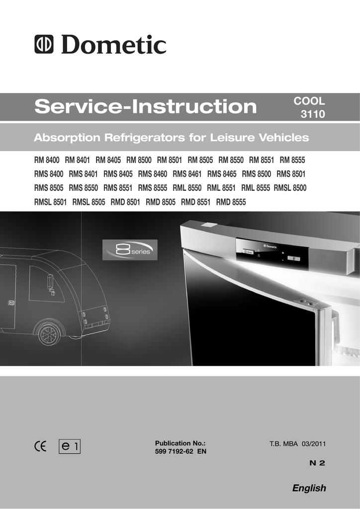 Dometic RM 8405 Technical data | manualzz com