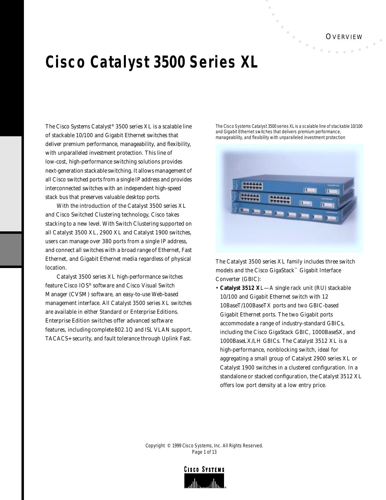 Cisco Catalyst 3500 Series XL | manualzz com
