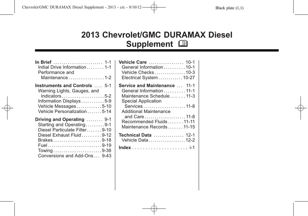Chevrolet/GMC 2013 DURAMAX Diesel Technical data | manualzz com