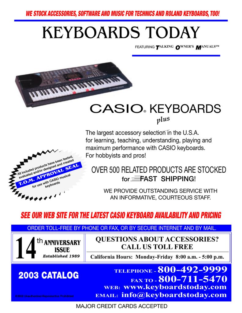 casio wk 500 service manual