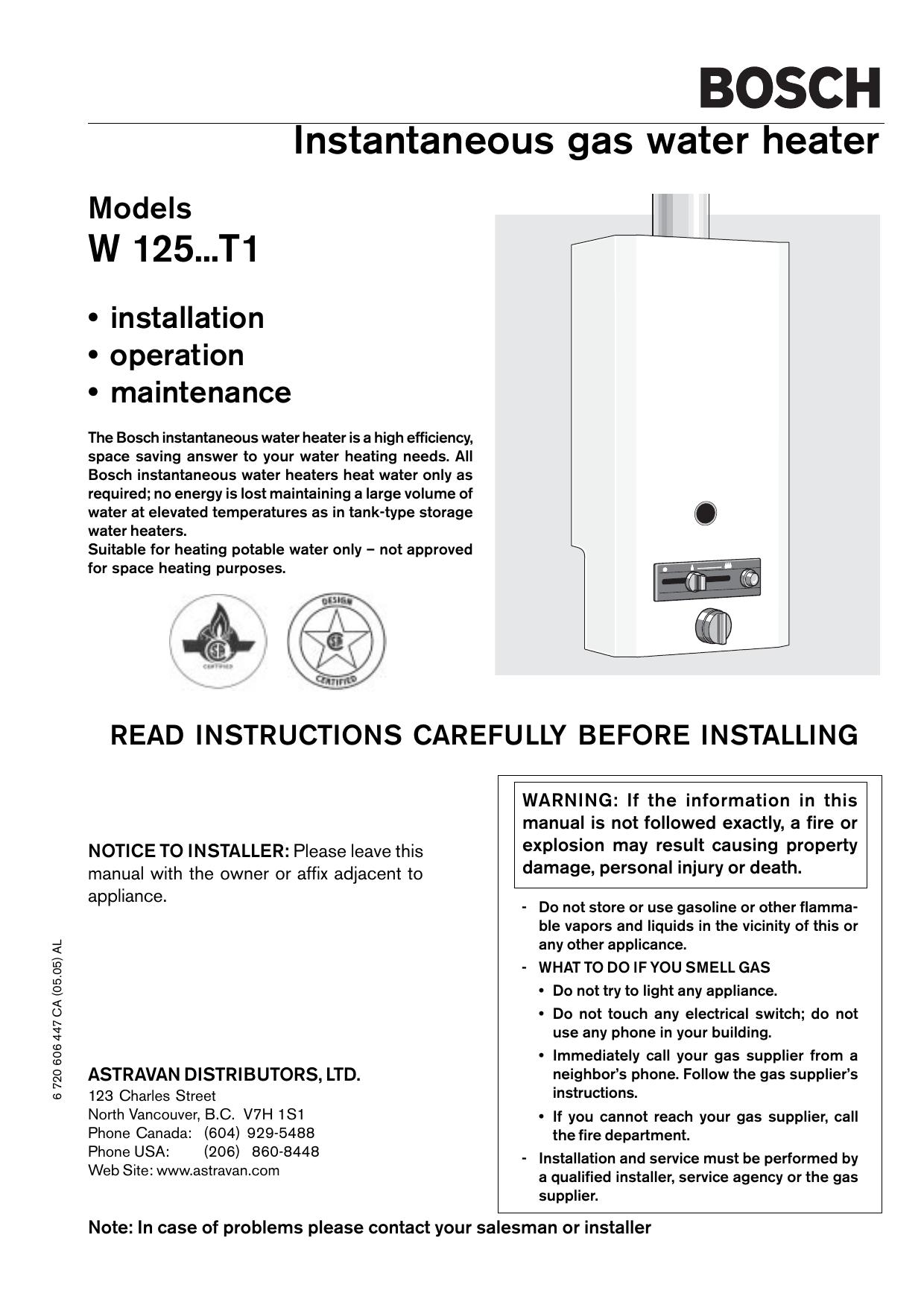 Bosch 125 A Operating Instructions Manualzz