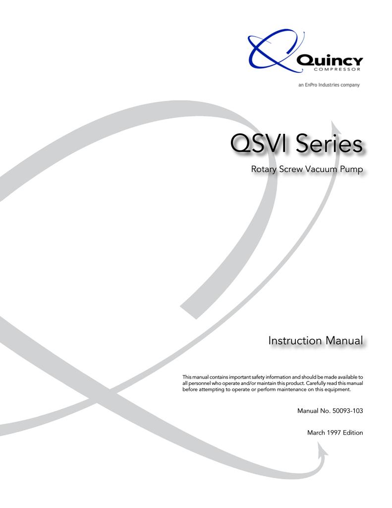 quincy compressor qsvi series instruction manual manualzz com air compressor starter wiring diagram quincy qt air compressor quincy