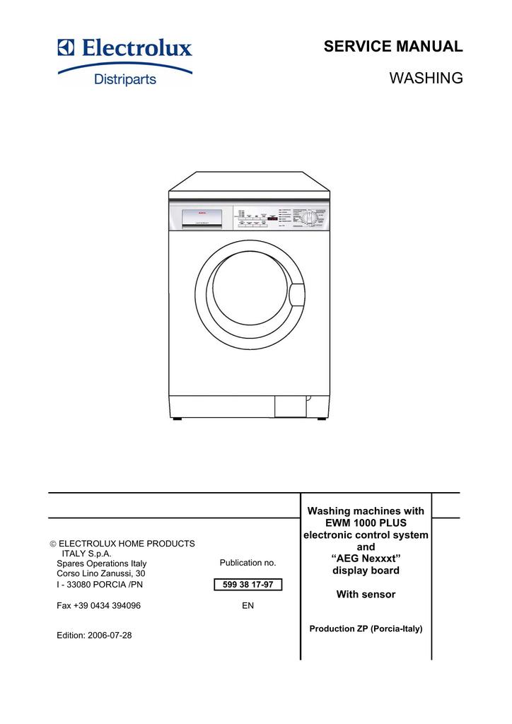 electrolux washing machines with ewm 1000 plus service manual rh manualzz com