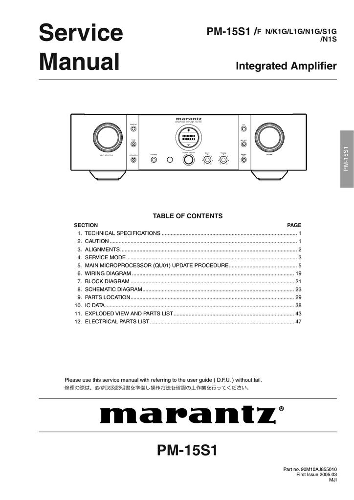 marantz pm 15s1 service manual manualzz com rh manualzz com NYSC 207 Cessna 207