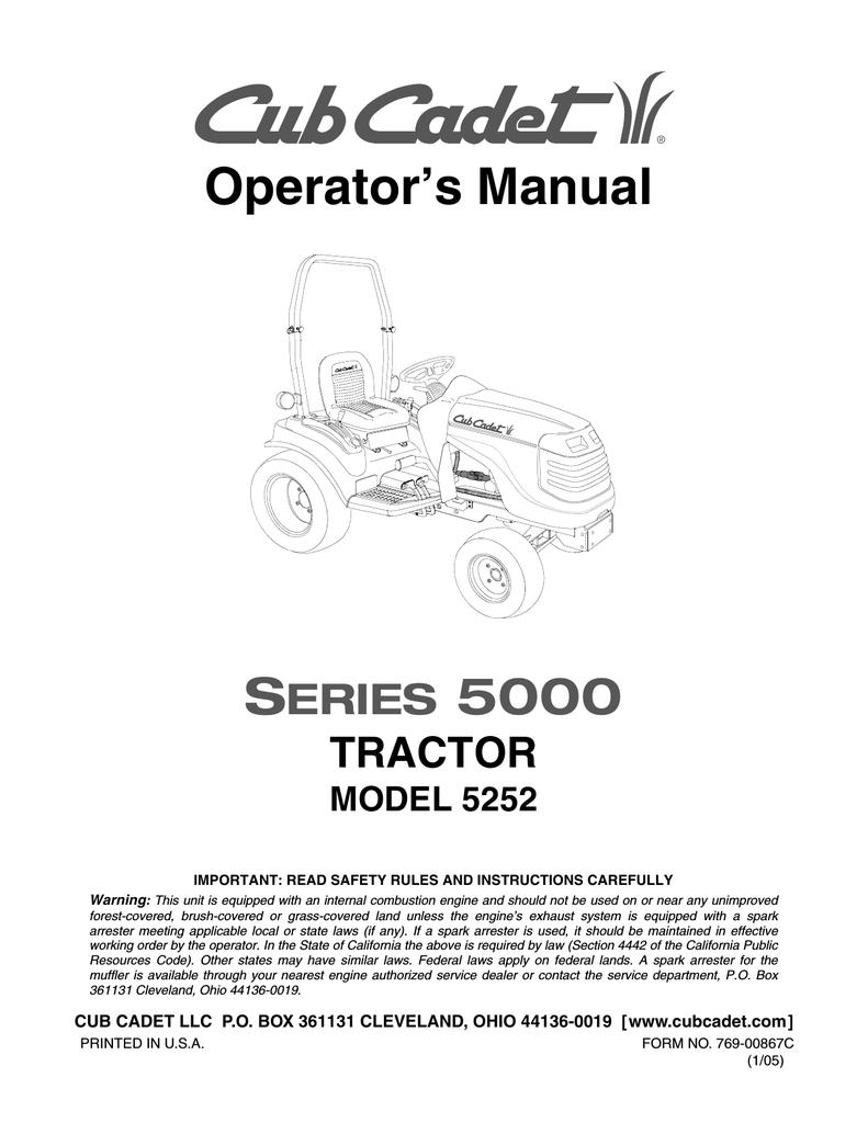 Cub Cadet 5252 Operator`s manual   manualzz com