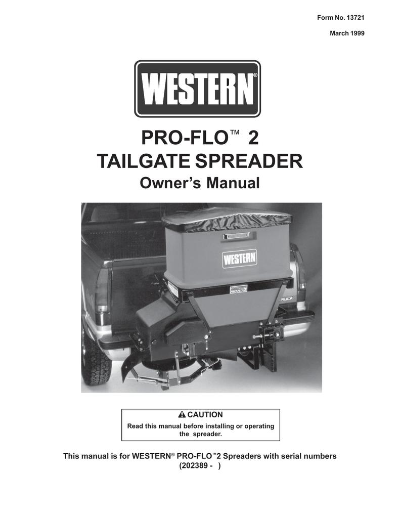 Western PRO-FLO 2 Owner`s manual | manualzz com