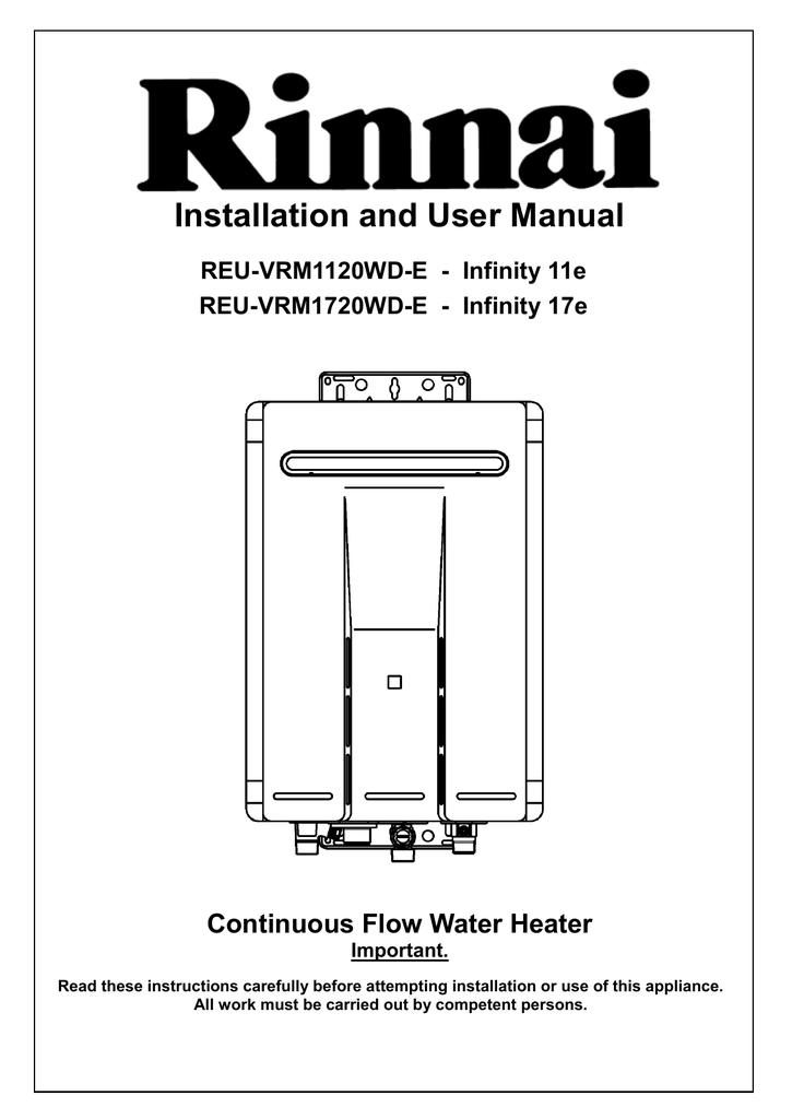 rinnai reu vrm2024wd e user manual manualzz com rh manualzz com rinnai infinity 26 user manual rinnai infinity 26 installation manual