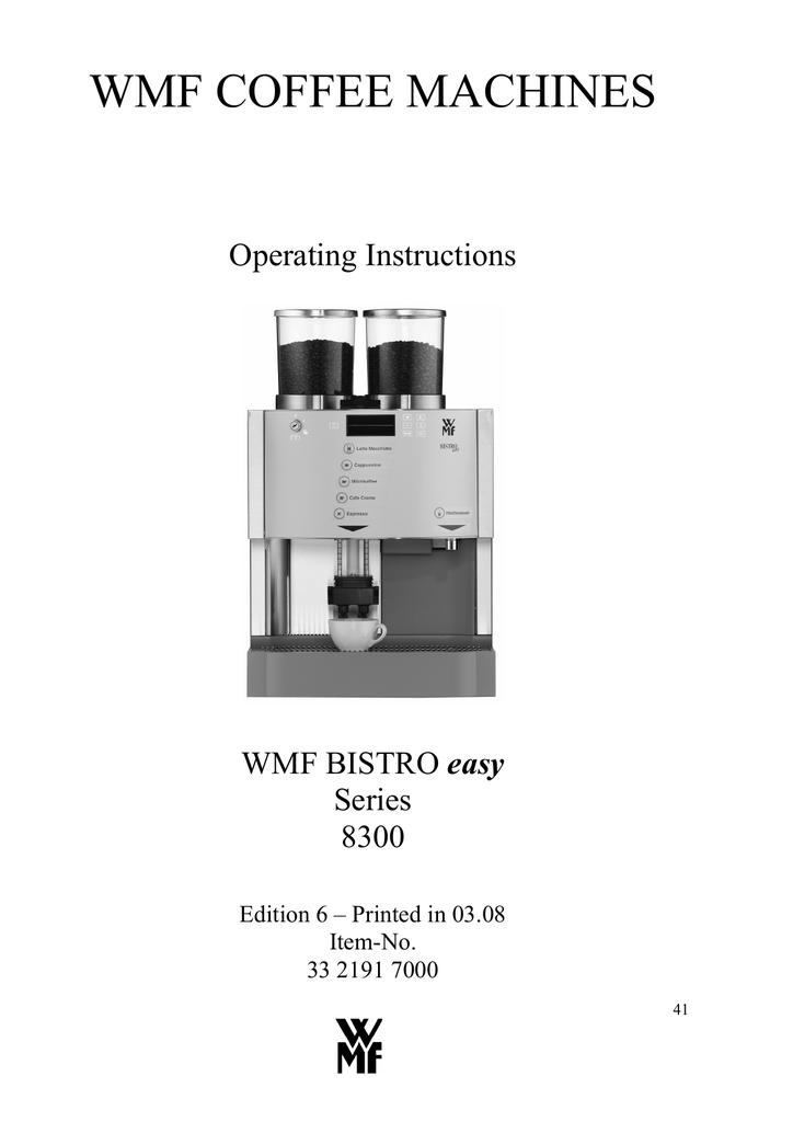 wmf bistro operating instructions manualzz com rh manualzz com Coffee Machine Coffee Machine