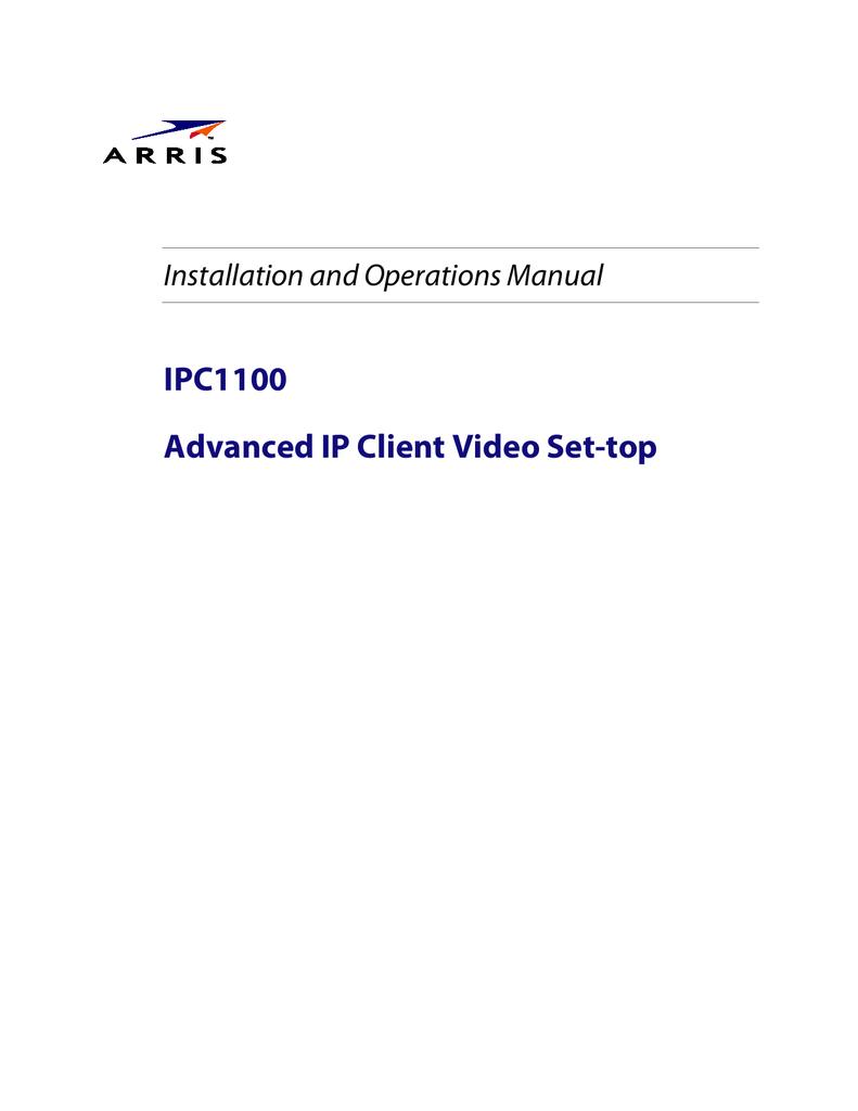 Arris IPC1100 User manual | manualzz com