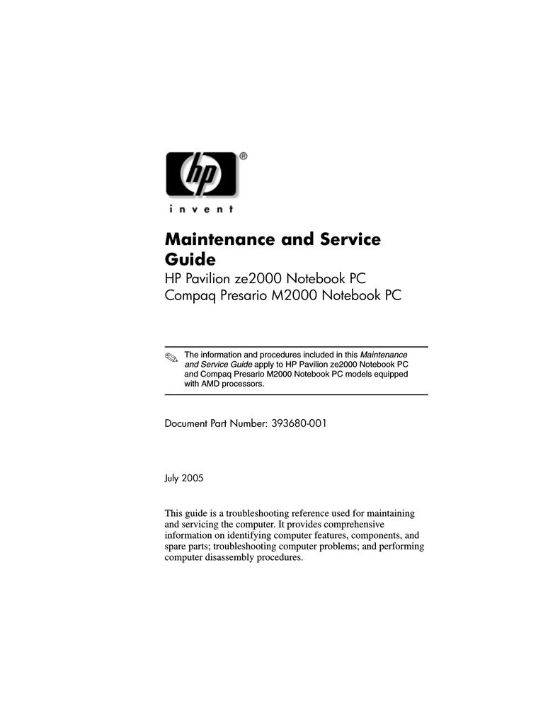 HP Compaq Presario,Presario 4640 Specifications | manualzz com