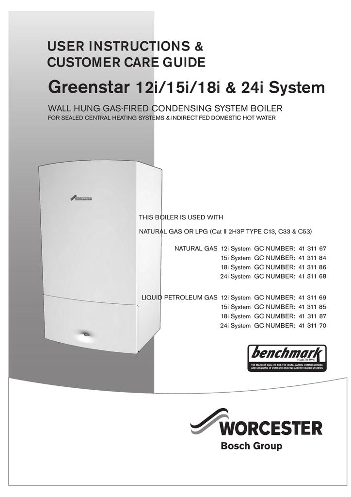bosch greenstar 18i user manual  manualzz