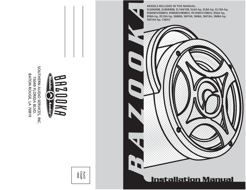 bazooka el6a hp specifications manualzz com Bazooka Amplified Subwoofer Wiring