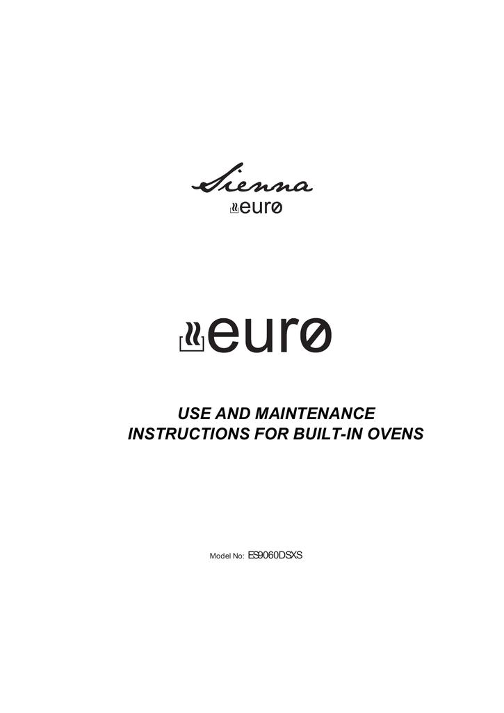 Euro Siena Es9060dsxs Electric Oven User Manual Manualzz