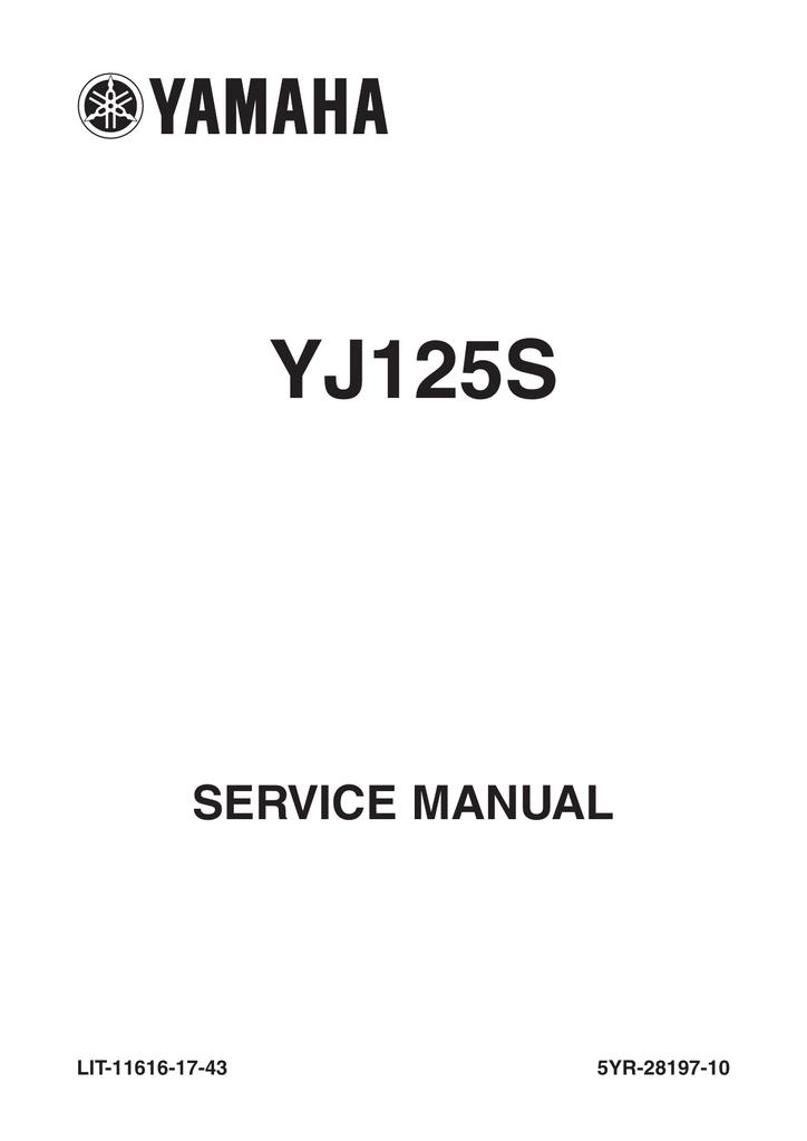 Yamaha VINO 125 Service manual   Manualzzmanualzz