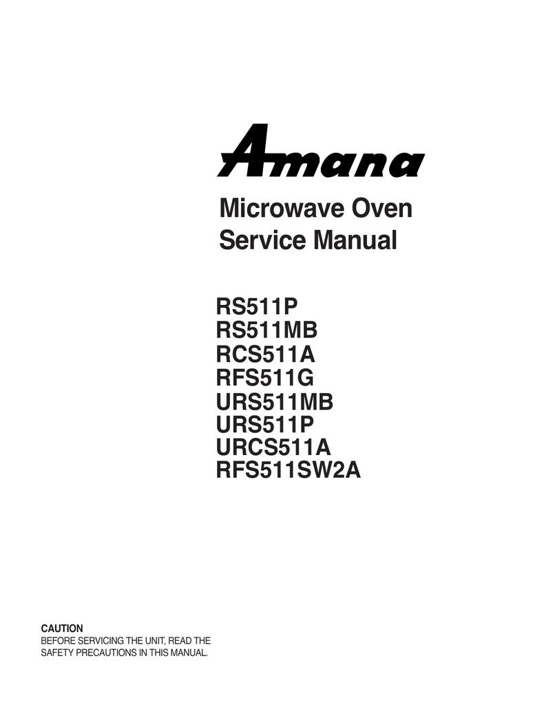 amana p1330230murcs511a service manual manualzz com rh manualzz com Amana Stove Manual Ownersmanuals Amana Stove Manual Ownersmanuals