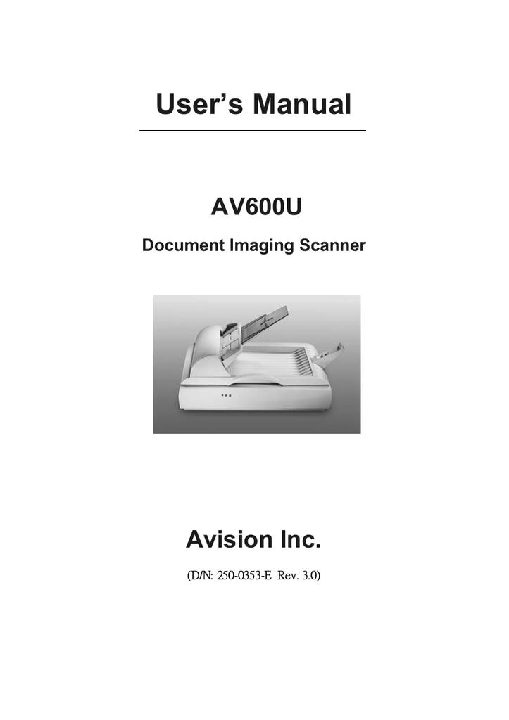 AVISION AV600U SCANNER ISIS WINDOWS 7 X64 TREIBER