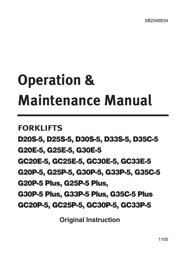 Doosan G20P-5 Plus Specifications | manualzz.com on