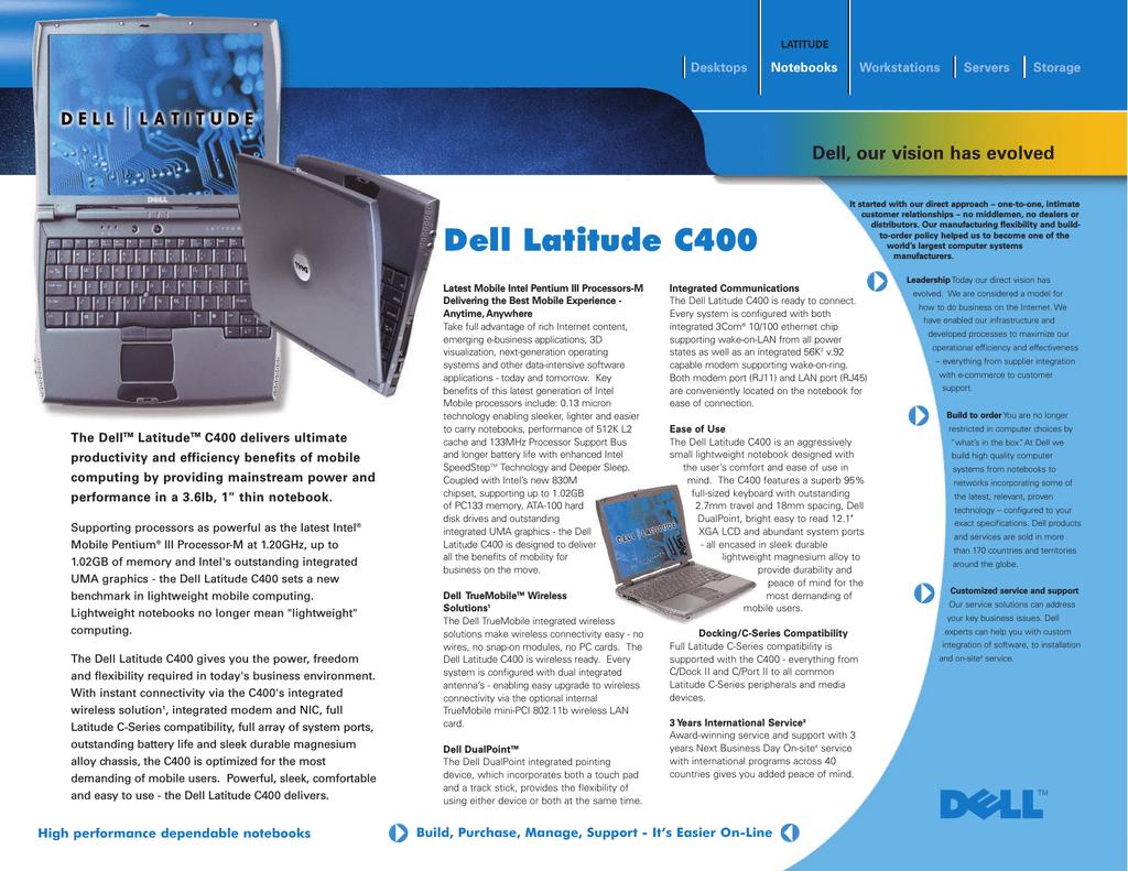 Dell Latitude C400 TrueMobile 1170 Access Point Driver for Windows 10