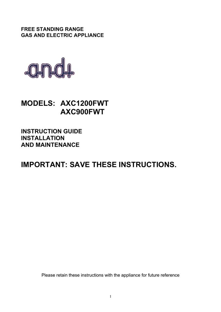Andi Axc1200fwt Instruction Manual Manualzz
