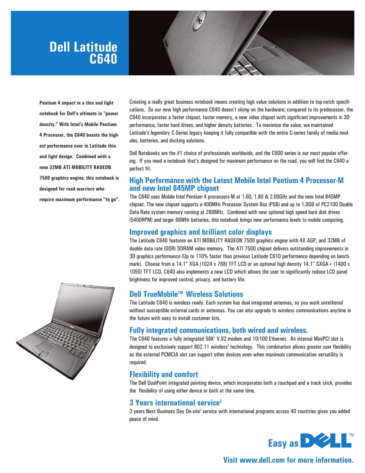 DELL LATITUDE C600 TRUEMOBILE 1150 SERIES PC CARD DRIVERS FOR WINDOWS DOWNLOAD