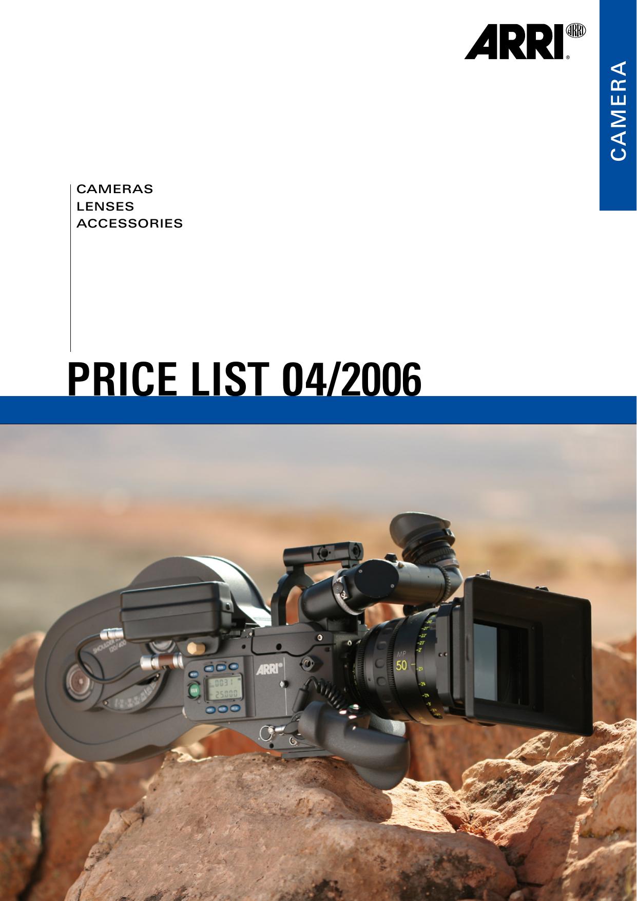 Arri Camera Price List, 01 April, 2006   manualzz com
