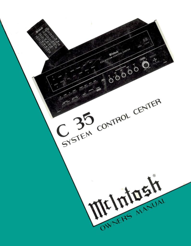 mcintosh c35 service operating instructions manualzz com rh manualzz com