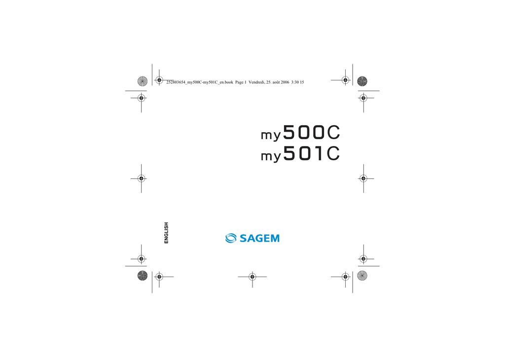 Sagem MY500C User guide | manualzz com