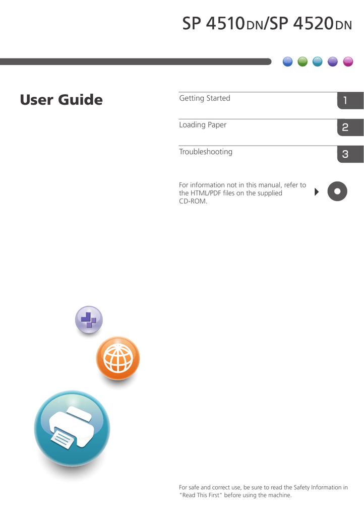 Ricoh SP 4510 DN User guide | manualzz com