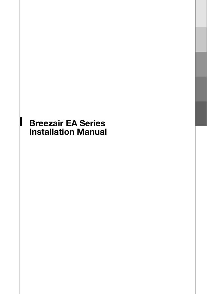 Seeley BreezeAir ILL1140-A Installation manual | manualzz com