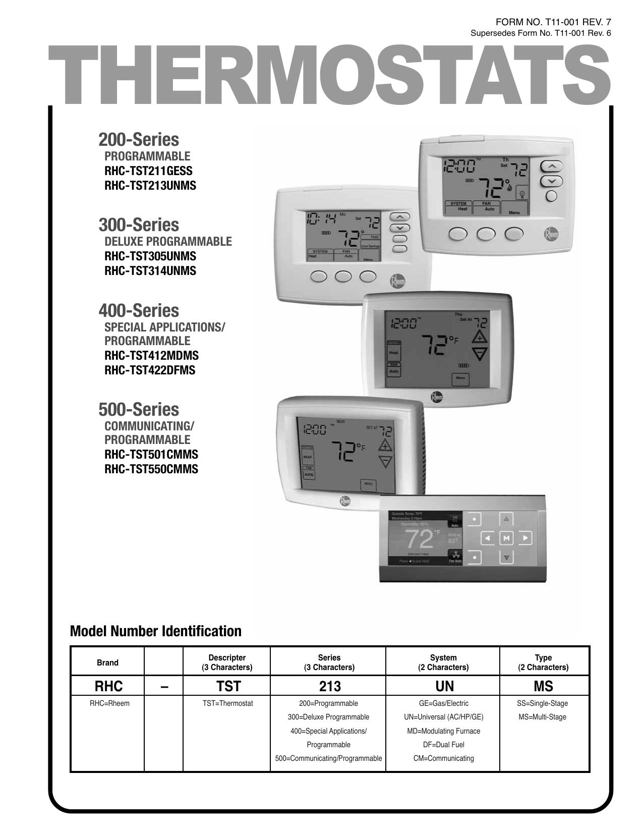 rheem operating manual manualzz com rh manualzz com Rheem Programmable Thermostat Rheem 2 Stage Thermostat