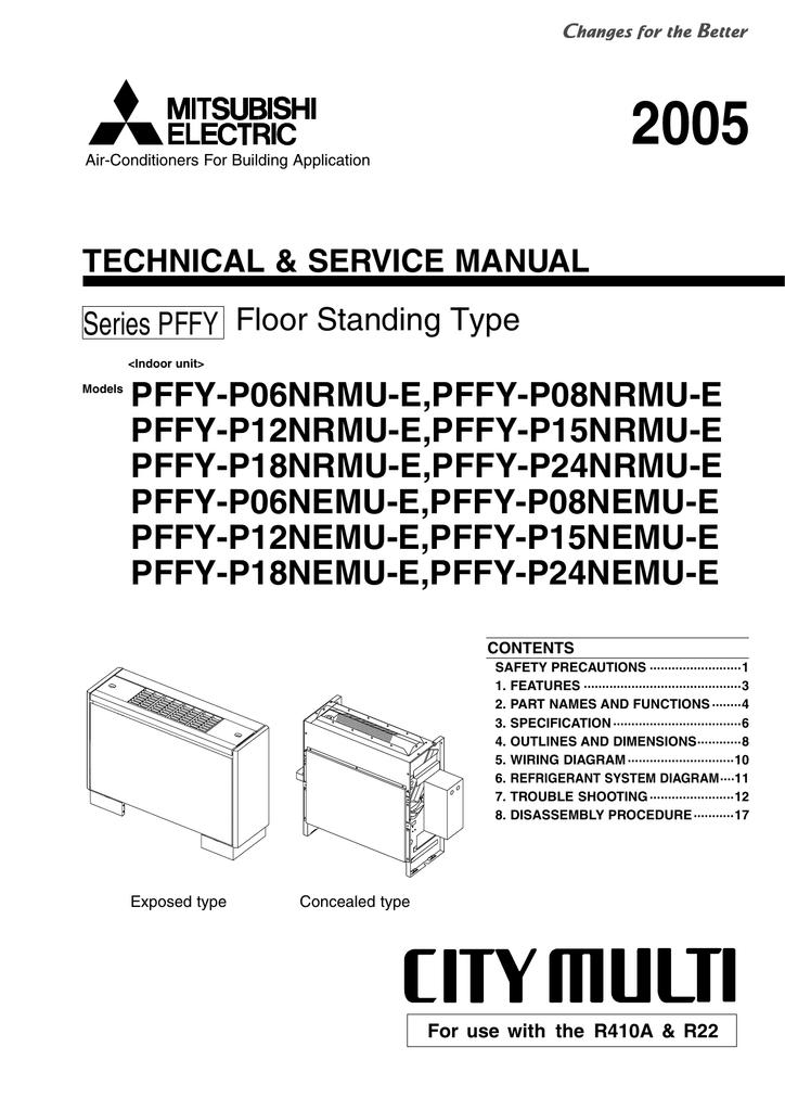 mitsubishi pffy-nemu-a service manual