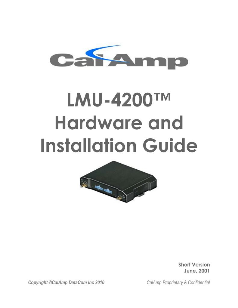 cal amp lmu 26xx installation guide manualzz com rh manualzz com