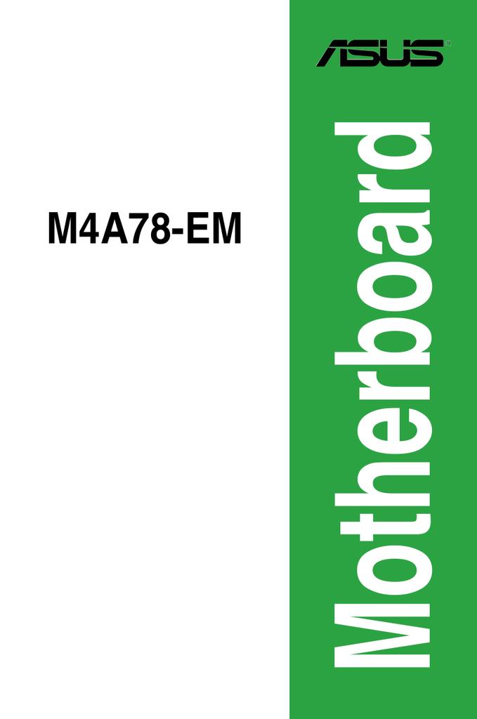 DRIVERS: ASUS M4A78-EM-1394