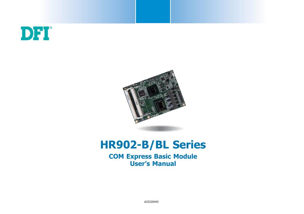 DFI HR902-B/BL Series, HR902-B/HR902-BL User manual - Manualzz