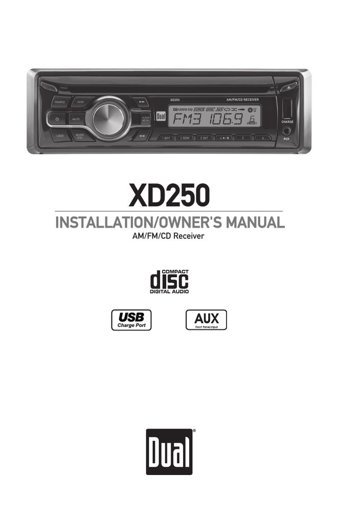 Dual XD250 Troubleshooting guide | Manualzzmanualzz