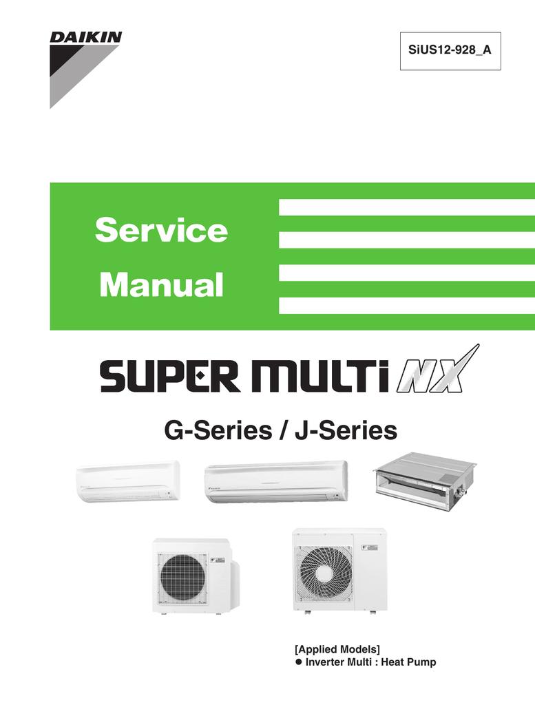 Daikin SUPER MULTI NX 2MXS18GVJU Specifications | manualzz com