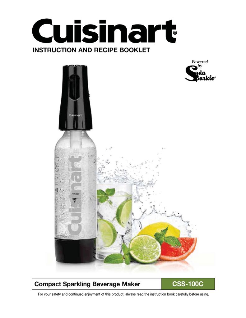 NEW Cuisinart CSS-100 Compact Sparkling Soda Beverage Maker KIT