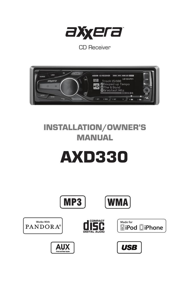 Dual Axxera AXD330 Troubleshooting guide | manualzz.com on