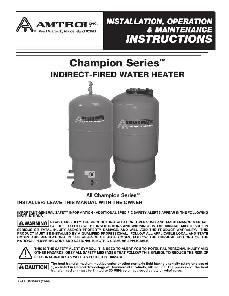 Amtrol TD-7Z Installation manual | manualzz com