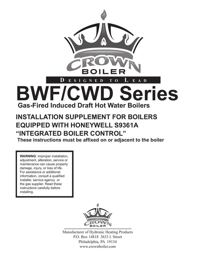 Tobacco Crown Boiler Wiring Diagram Automotive Residential Bwf195 Instruction Manual Manualzz Com Rh Water Feeder